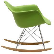 amazon com modway molded plastic armchair rocker in green
