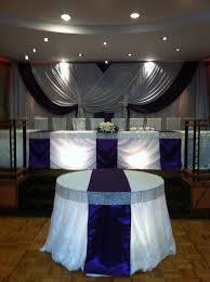 Cheap Draping Material Wedding Reception Head Table Bling Ribbon Table Drape
