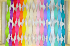 streamers paper decorating with crepe paper streamers birthday party