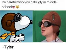 Tyler Meme - be careful who you call ugly in middle school tyler meme on