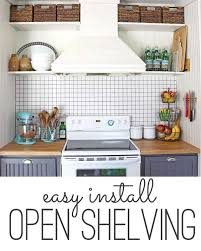 open shelving storage solution simple open kitchen shelves