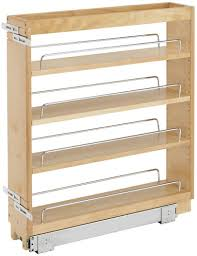 cost to install base cabinets rev a shelf 448 bc 5c 5 inch base cabinet pullout storage organizer with adjustable wood shelves and chrome rails