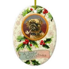 vintage pug ornaments keepsake ornaments zazzle