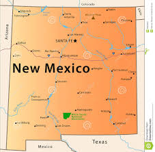 New Mexico County Map by New Mexico Map Stock Photography Image 28633032