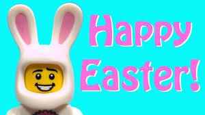 happy easter a lego easter bunny with eggs story brickfilm stop