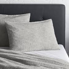 lindstrom grey duvet covers and pillow shams crate and barrel