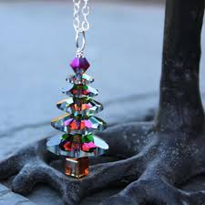 Color Changing Christmas Trees - color changing christmas tree silver necklace crystal vitrail