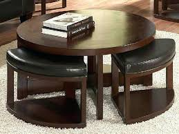ottoman with 4 stools coffee table with ottomans underneath captivating round coffee table
