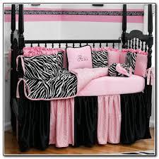 Pink Zebra Crib Bedding Pink And Gray Crib Bedding Beds Home Design Ideas
