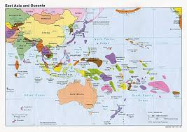 Africa Map Countries And Capitals by Large Political Map Of East Aisa And Oceania With Capitals U2013 1992