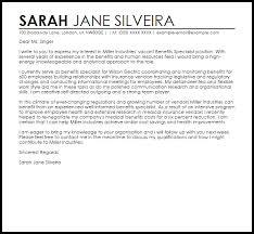 benefits specialist cover letter sample livecareer