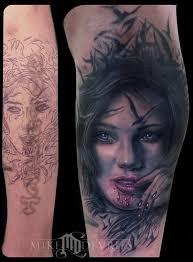 evil face tattoo design