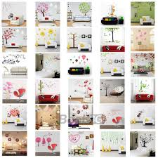 flower tree pvc removable home window art decor mural wall paper image is loading flower tree pvc removable home window art decor