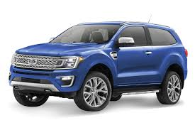 blue bronco car rendered speculation if the all new ford bronco looks like this