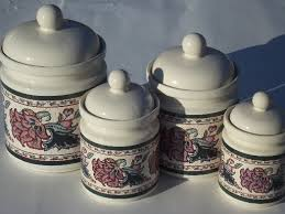 kitchen canister sets ceramic paisley garden kitchen canisters set preferred stock ceramic