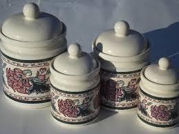kitchen canister set ceramic paisley garden kitchen canisters set preferred stock ceramic