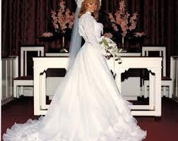 1985 wedding dresses trail dress etsy