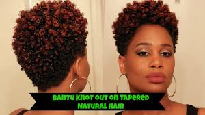tapered twa 4c hairstyles bantu knot out on tapered natural hair how to misskenk youtube