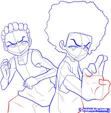 how to draw the boondocks step by step anime characters anime