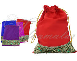 cloth gift bags thugil online store gift bag india weddings festivals satin cloth