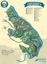 Salem Virginia Map by Hiking U0026 Biking Roanoke County Parks Rec U0026 Tourism Va