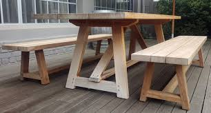 home design elegant outdoor table frame karoo with a benches