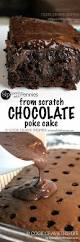 chocolate poke cake from scratch spend with pennies