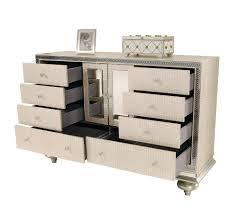 Aico Bed Hollywood Swank Cream Pearl Platform Bed By Aico Aico Bedroom