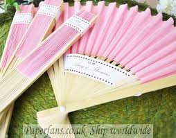 held paper fans paper pink handheld fan 0 6