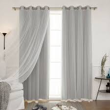 Blackout Curtains Gray Home Mix And Match Blackout Blackout Curtains Panel Set 4