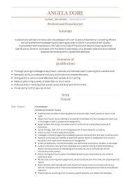 resume housekeeper unforgettable housekeeper resume examples to