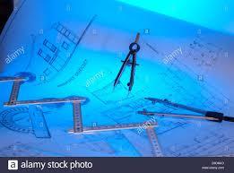 architect plan drawing instruments stock photo royalty free image