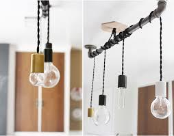 diy light pendant creative of diy kitchen lighting pendant hanging from pipe so