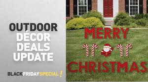black friday outdoor décor update merry yard sign