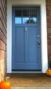 a medium bluepaint color works well for a front door surrounded