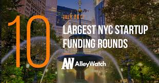 the 10 largest nyc startup funding rounds of july 2017 alleywatch
