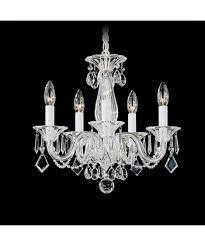schonbek 6995 allegro 15 inch wide 5 light mini chandelier
