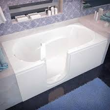 best bathtubs 2017 freestanding drop in walk in and recessed spa world venzi vz3060silws rectangular soaking walk in bathtub 30 60 left drain