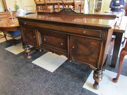 Dining Room Buffets And Sideboards Furniture Antique Dark Sideboard Buffet With Three Drawers On