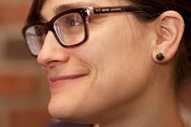 wood stud earrings wood and 24k gold granulated stud earrings