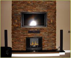 stacked stone fireplace home design ideas