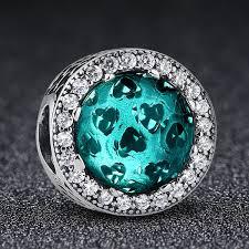 silver bead bracelet diy images 925 sterling silver radiant hearts sky blue charm fit original jpg
