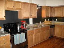 My Kitchen With Black Chalkboard Paint On The Backsplash A Photo