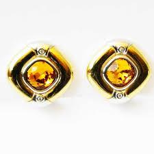 1960 s earrings rhinestone vintage clip earrings by grosse 1960s