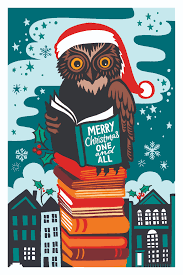 london library christmas cards now on sale