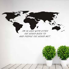 World Map Wall Decal by Online Get Cheap Office Love Quotes Aliexpress Com Alibaba Group