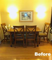 mission style dining room set dining set makeover plastic plate wall clutter