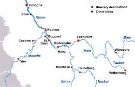 map of germany showing rivers river castles tour