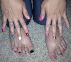 56 paint all finger toe nails different colors my100daysofsummer