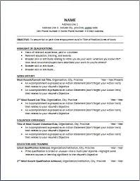 Example Chronological Resume by Chronological Resume Objective